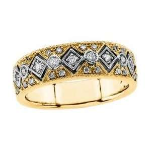 Two Tone Gold Diamond Bridal Anniversary Band Ring