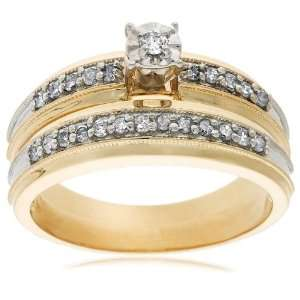 10k Yellow Gold Diamond Engagement Ring (1/4 cttw, I J