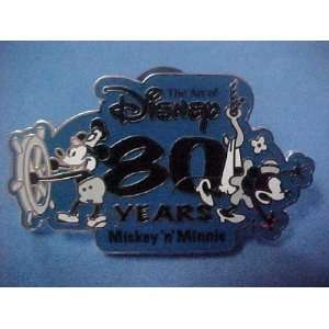Disney Pin/Steamboat Mickey & Minnie 80 years Art of Disney pin
