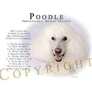 Poodle WHITE Human Trainer Mouse Pad Dog Mousepad