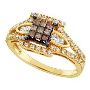 1/2 Carat Chocolate & White Diamond 14k Yellow Gold