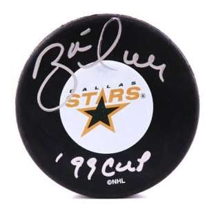 Brett Hull Dallas Stars Autographed Hockey Puck with 99