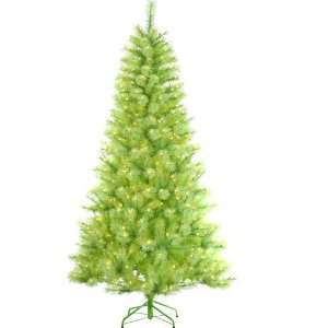 Lime Green Cashmere Pine Artificial Christmas Tree   Green Lights