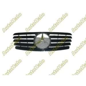 98 02 ( 99 00 01 ) MERCEDES BENZ W208 CLK GRILL   CHROME W/ BLACK   JY