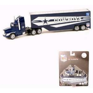DALLAS COWBOYS NFL Semi Diecast Tractor Trailer Truck 1/87
