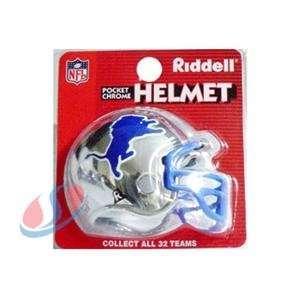 Detroit Lions Chrome Pocket Pro NFL Helmet