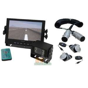 Trailer and Motor Home LCD Color Rear View Back Up Camera System and 7