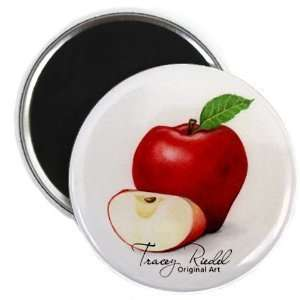Red Delicious Original Art 2.25 Inch Fridge Magnet