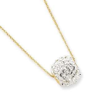 14k Gold Crystal Slider Necklace Jewelry