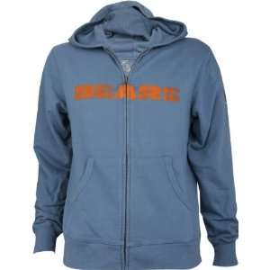 Chicago Bears  Blue  Slim Fit Super Soft Throwback Wordmark Full Zip