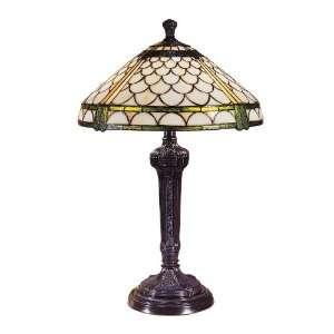 Tiffany TT100020 Mica Bronze Etruscan 16 x 24 Manchester Table Lamp
