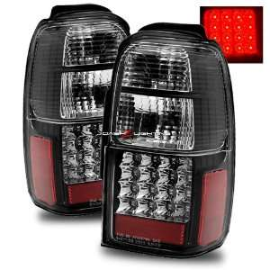 01 02 Toyota 4Runner LED Tail Lights   Black Automotive