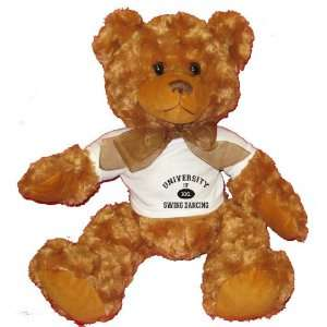 UNIVERSITY OF XXL SWING DANCING Plush Teddy Bear with WHITE T Shirt