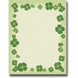 Blank Stock   Four Leaf Clovers Letterhead