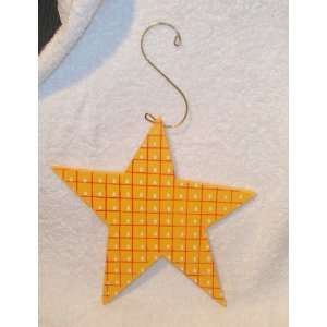 Large Wooden Painted Star Ornament Wall Hanging New