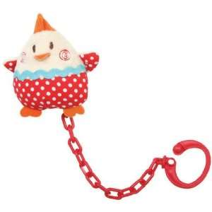 Tuc Tuc Red Little Hen Baby Pacifier Leash, Universal Pacifier Holder
