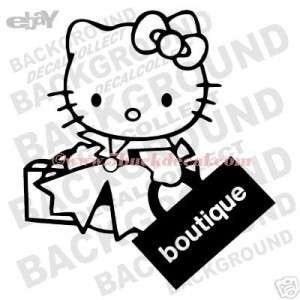 HELLO KITTY SHOPPING car window sticker decal BOUTIQUE