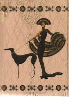 ERTE Blank Lined Writing Journal SYMPHONY IN BLACK New