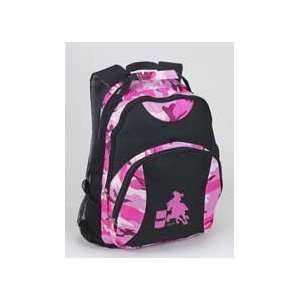Pink Camo Barrel Racing Horse Backpack
