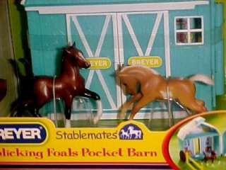 Breyer Horses Stablemates #5932 Frolicking Foals Pocket Barn NEW 2012