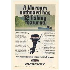 1968 Mercury Outboard Boat Motor 12 Fishing Features Print