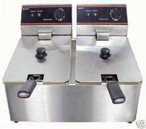 COMMERCIAL ELECTRIC DEEP FRYER W/Covers ADCRAFT DF 6L/2