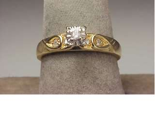 New 14K Two Tone Gold Diamond Engagement Ring