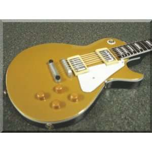 HUBERT SUMLIN Miniature Mini Guitar Les Paul Goldtop