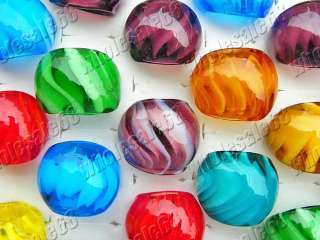 new wholesale 24pcs mix colour murano glass rings free